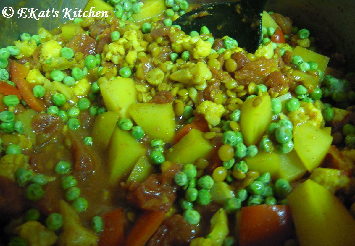 how to make madras lentils