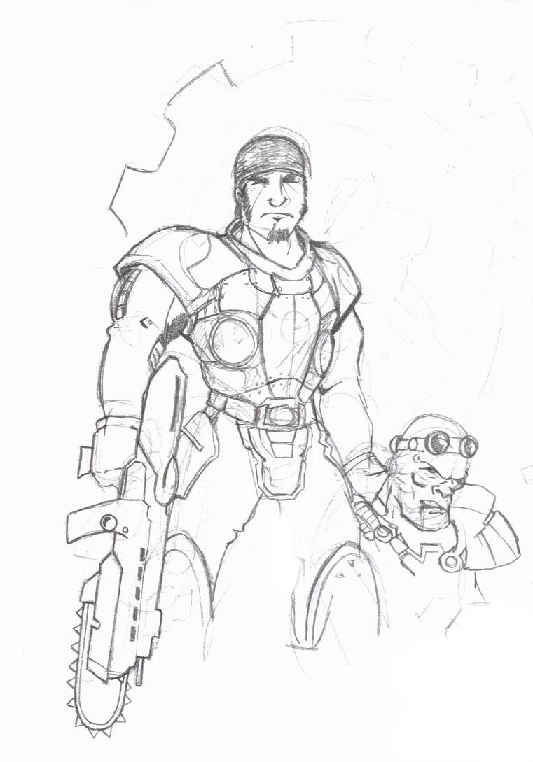 carmine gears of war in color coloring pages coloring pages