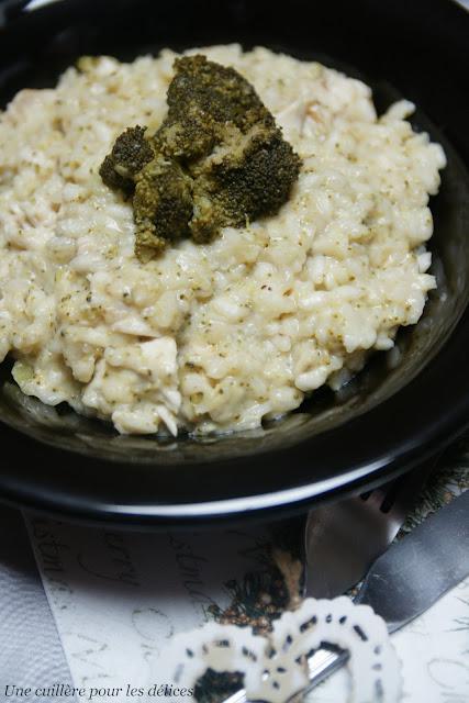 une cuill re pour les d lices risotto au sancerre blanc brocolis et poulet. Black Bedroom Furniture Sets. Home Design Ideas