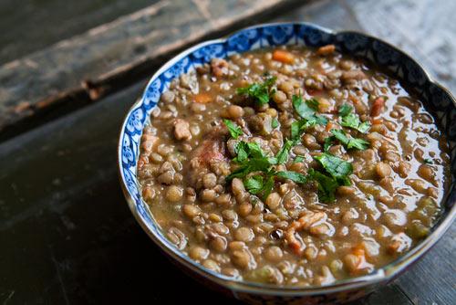 Coup de Soup: California Winter Sausage Fennel and Lentil Stew
