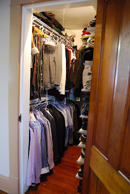 Exceptionnel All Of My Husbandu0027s Pants, Sweaters, And T Shirts Were Piled On Top Of The  Waist High Shelf Above The Lower Closet Rod, Which Meant We Couldnu0027t Hang  ...