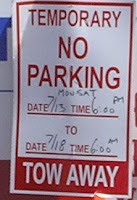 no parking sign, photo by Rosemary West © 2009