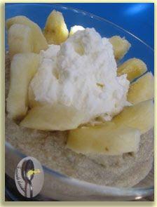 Piure de castane cu banana