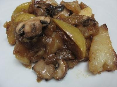 Artichoke ierusalmi cu mere si ciuperci