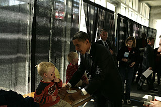 Obama gets a taste of my daily life