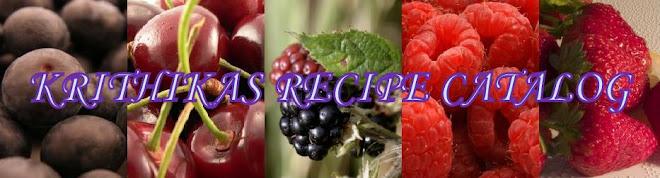 Krithika's Recipe Catalog