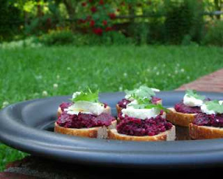 Pesto made from beets -- no added fat and piles of flavor and color