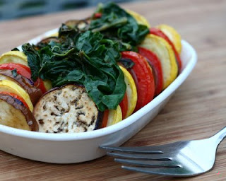 Stacked Ratatouille for One or Two in individual serving dishes