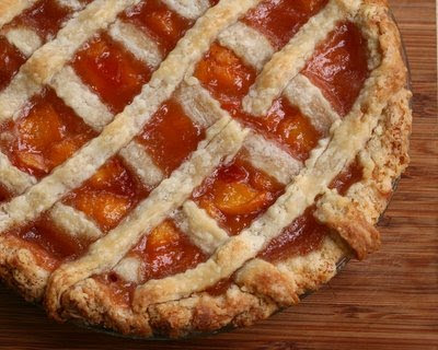 First-Prize Peach Pie with Lattice Crust