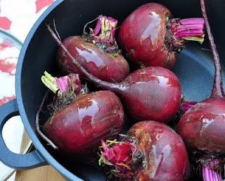 Put a smidgen of oil on each beet.