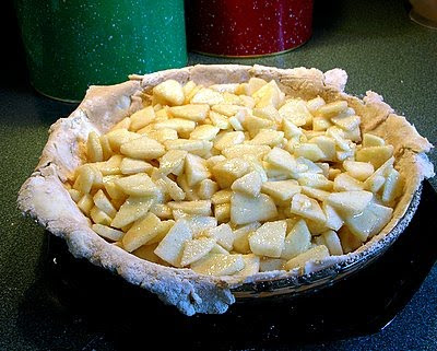 fill the bottom crust with the apples