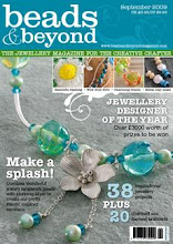 Featured on Front Page of Beads & Beyond - Sept 2009