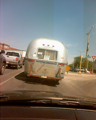Airstream Sovereign spotted at a red light today!