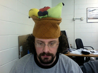 The other side of my fruits hat.