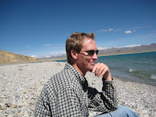 Carey at Lake Namtso in Tibet