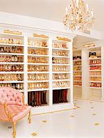 Mariah Carey shoe closet