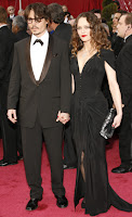 Johnny Depp and Vanessa Paradis Oscar's 08