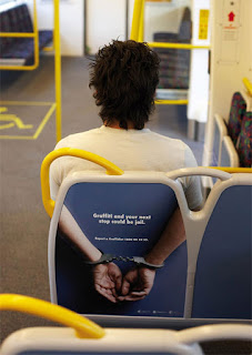 graffiti bus seat poster b