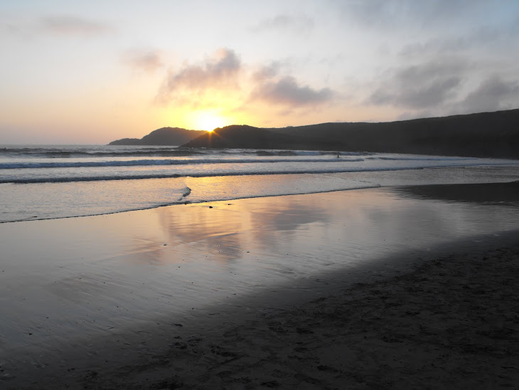 Sunset in June at Whitesands Beach