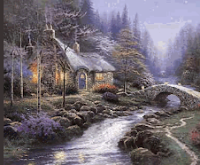 Cabin by the Stream
