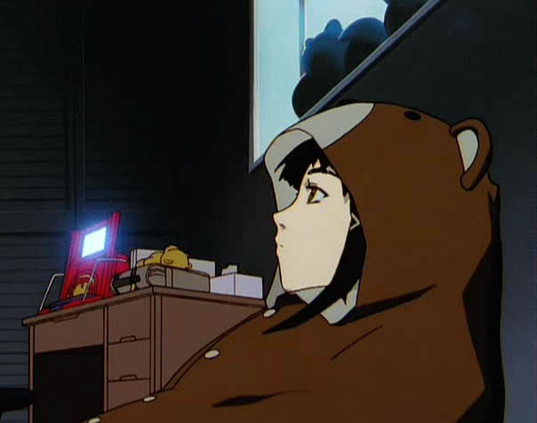 Lain also comes in this adorable bear suit. For some reason.
