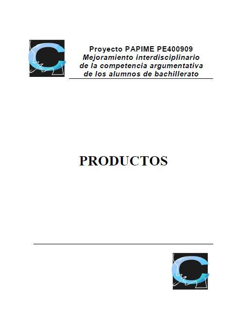 Productos del Primer Año (2009-2010)