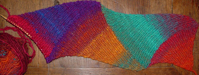 ribbed diagonal multi-directional scarf