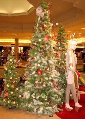 Trip to Cherry Creek Shopping Center - Mall Christmas Trees