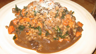 ... and Lean: Barley Risotto with Mushrooms, Kale, and Sweet Potatoes