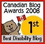 Canadian Blog Awards 2008 Best Disability   Blog