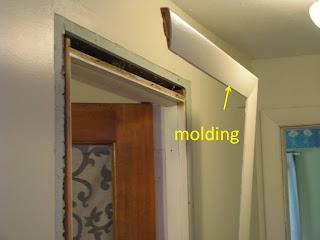 Kitchen trim work and front exterior door replacment and for Clamshell door casing