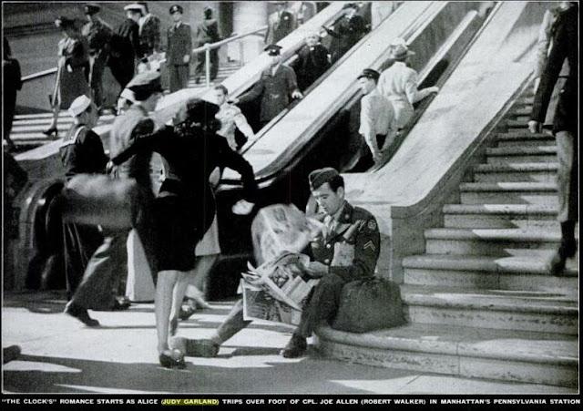 Judy Garland, Robert Walker, at Penn Station