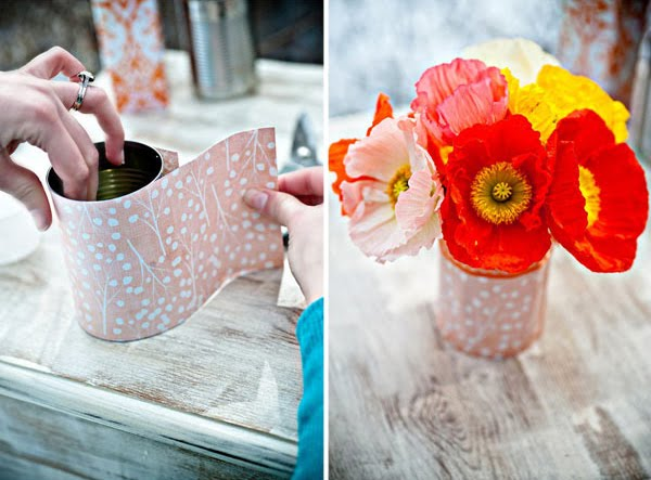 All about tin an easy craft using recycled tin cans for Recycled centerpiece ideas