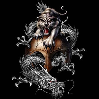Dragon Tattoo on Top Tattoo Designs  Tiger Dragon Tattoo