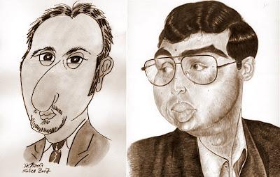 anand & topalov sketch