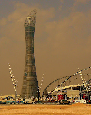 Aspire tower next to Khalifa Stadium