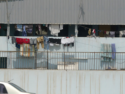 Clothes hung to dry