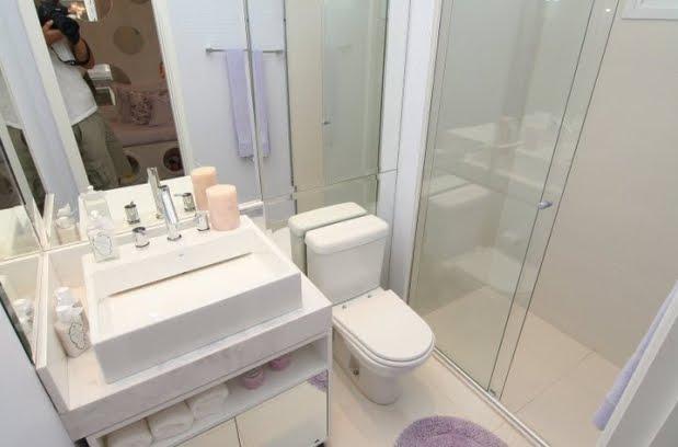 OLHA O MEU APÊ Banheiros, pastilhas etc -> Banheiros Com Pastilhas Em Cima Do Vaso