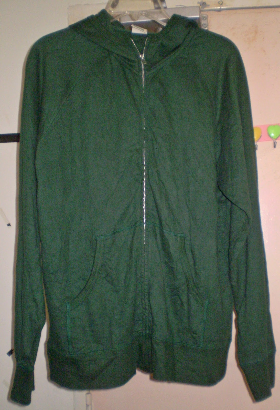 Zip Green Flash Sweater (SOLD)