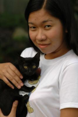 Marian and adopted kitty Kisha - MeFindHome.org
