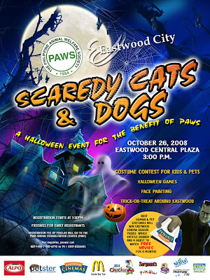 PAWS' Scaredy Cats and Dogs Poster