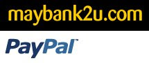 We Accept Payment via bank-in to our Maybank account & thru
