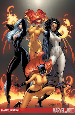 MARVEL DIVAS #1 COVER BY: J. Scott Campbell