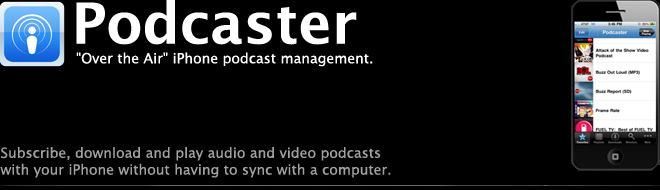 Podcaster: Native iPhone Podcast Catcher