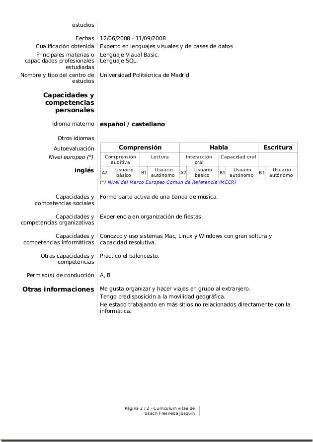 mipedazodeblog: Oferta de trabajo, carta de presentación y currículum