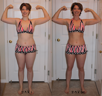 p90x before and after girls. to see: the P90X results!
