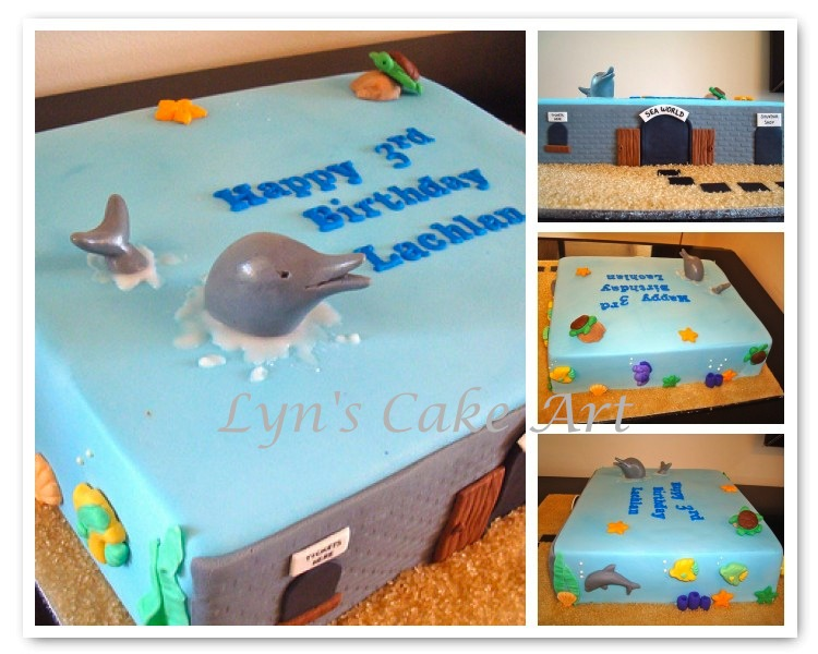 Cake Art Supplies Castle Hill : Lyn s Cake Art: Sea World cake
