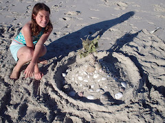 Maya's beautiful sand castle
