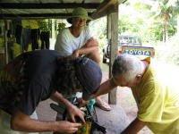 Steve repairing chainsaw