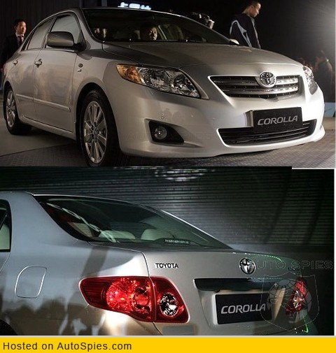 The refreshed Toyota Corolla